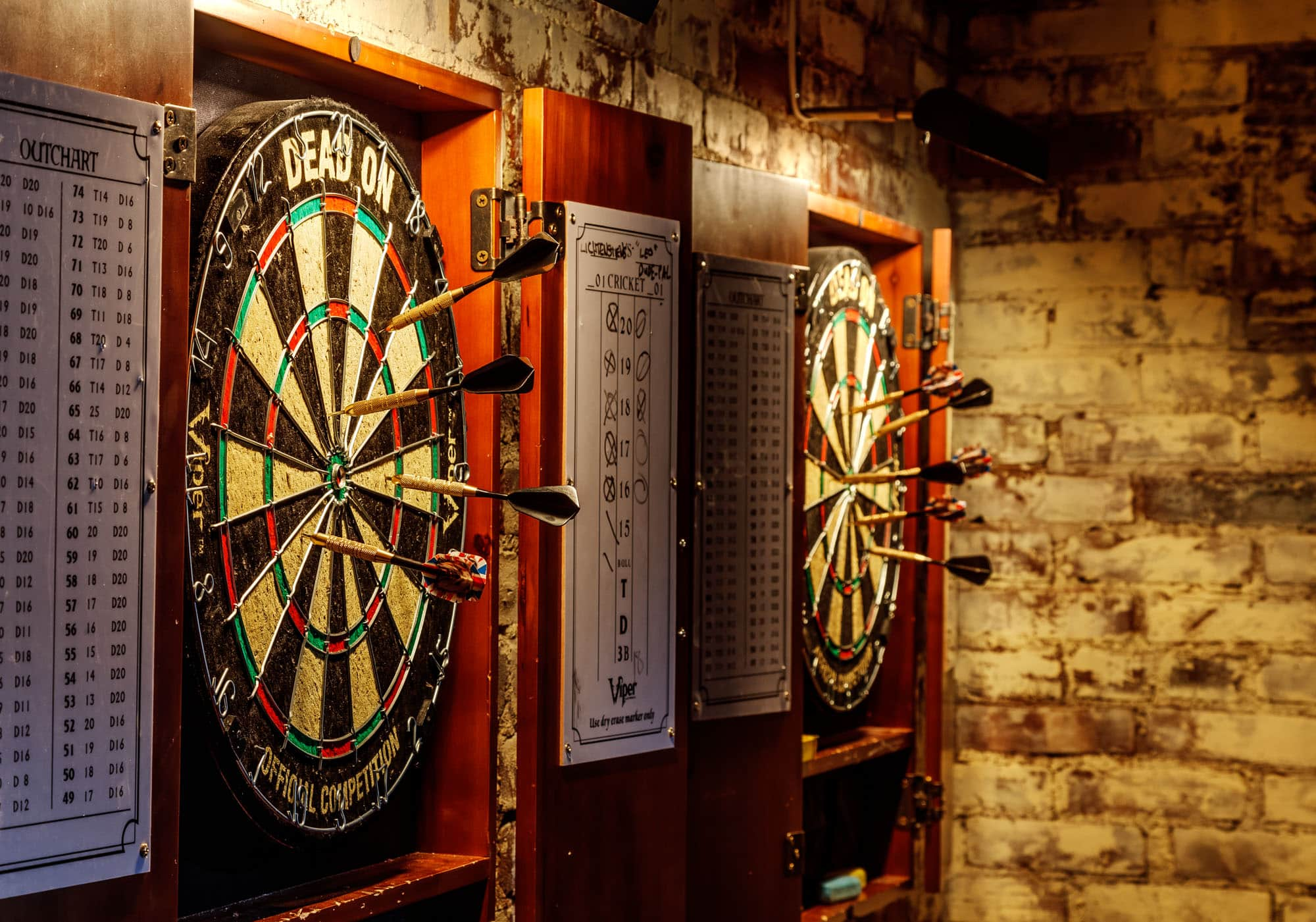 dart boards at e's BAR