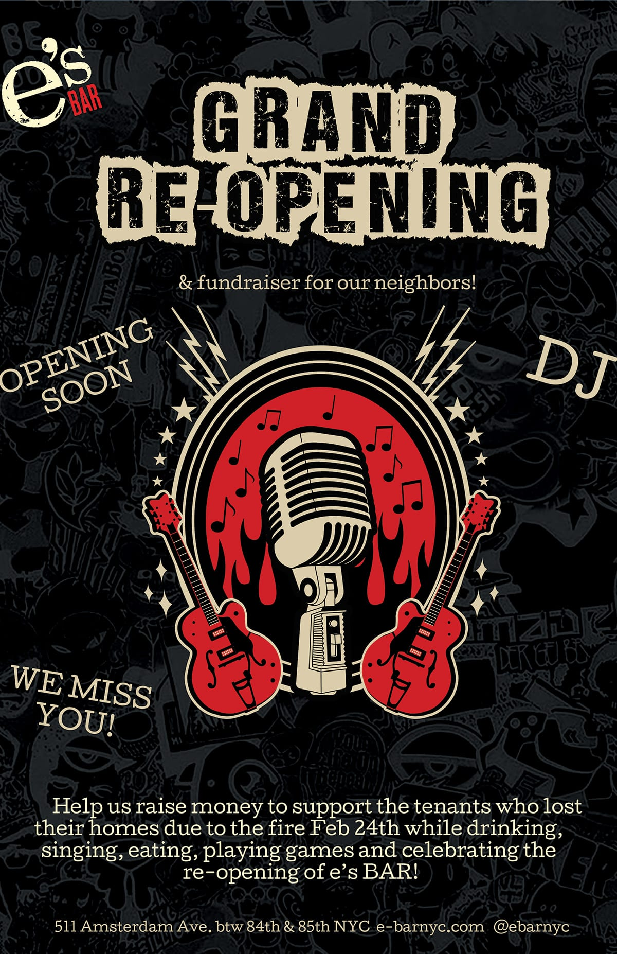 Grand Reopening Party for e's BAR poster #1