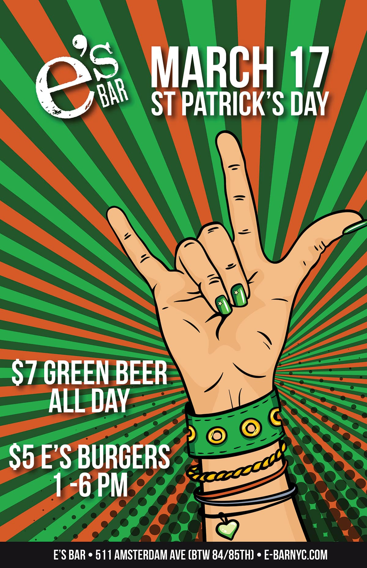 St Patrick's Day party poster