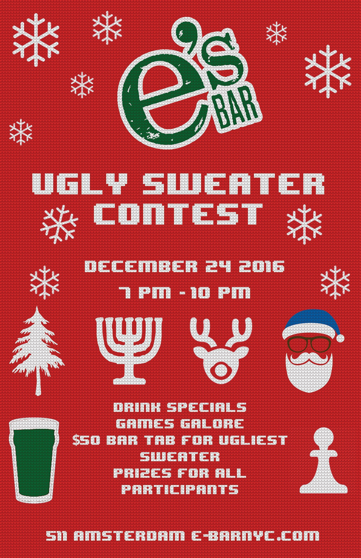 Ugly Sweater Contest poster