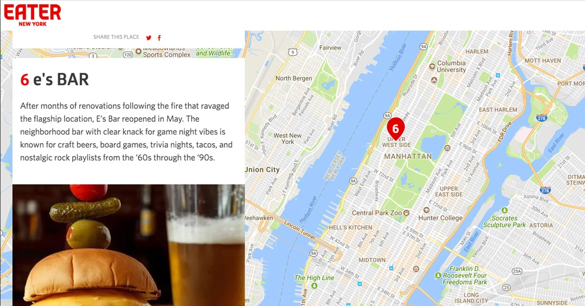 Eater blog press about NYC Bars